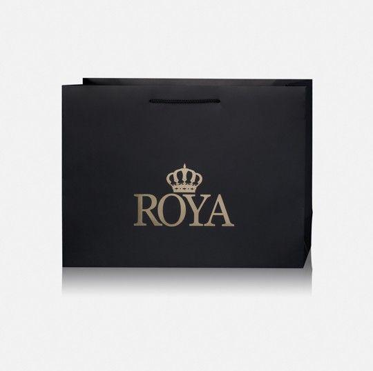 שקית שרוך ROYA שחורה 11002